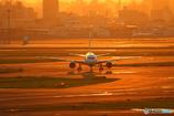 夕方の空港