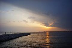 束の間の夕陽