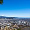 静岡市街と富士山