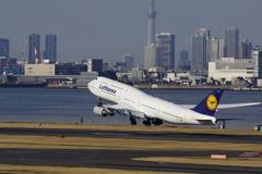 To the sky Lufthansa