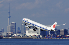 To the sky AIR CHINA