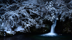 冬の横谷峡 紅葉滝1
