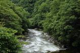 木曽の渓谷