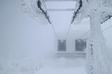真冬の山頂駅