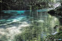 渓流の水面