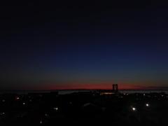 2017/06/14_宿から夕暮れの富山湾を望む
