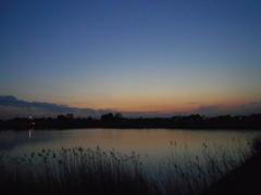 2017/03/04_溜め池の夕暮れ