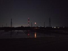 2018/04/29_夜の田んぼの中の小さな橋