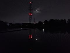 2017/06/11_水田の月夜