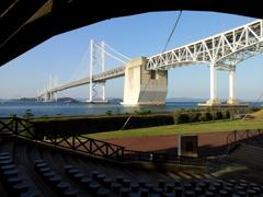 2017/10/26_瀬戸大橋記念公園 マリンドームから瀬戸大橋を望む