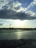 2017/06/04_水田に雲
