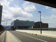 2018/07/14_盛岡駅北側陸橋からアイーナを望む