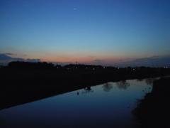 2017/03/04_元荒川の夕暮れ
