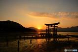 宮島の夕景