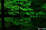 瑠璃光院・緑色に輝く2階書院