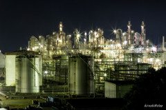 網干工場夜景