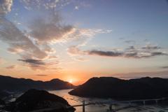 日生町の朝陽