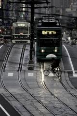 Rain falls city