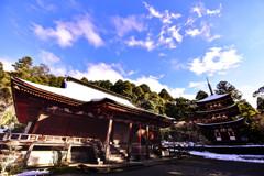 冬の湖東三山 西明寺