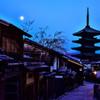 朝月と八坂の塔