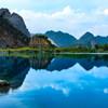 ハイフォンの青い池