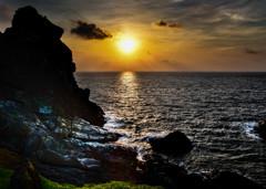 御神崎の夕景