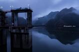 豊根ダムの夜明け