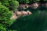 深緑の湖面