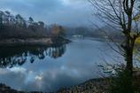 三河湖の朝景