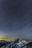 星空と燕岳