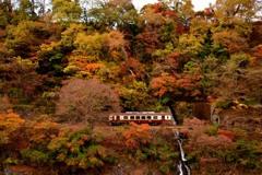 汽車見の滝 秋色