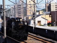 デゴイチが桐生市街地を走る!