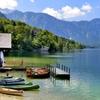 Bohinjsko jezero at Slovenia