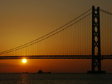 夕景 明石大橋3