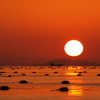 夕日 小豆島(碁石山 洞雲山)