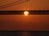 夕景 明石大橋2