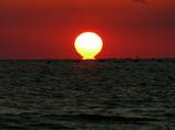 だるま夕日 途中 播磨灘
