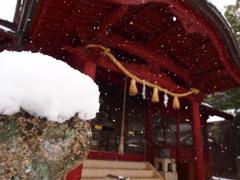 雪景色 氏神様