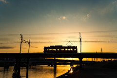 大和川の夕景