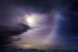 halo in the sky