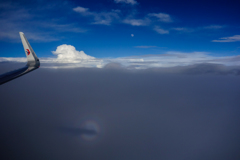 sky and moon and brocken spectre