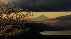 富士と霧氷