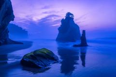夜明けの砂浜