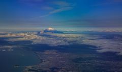 江の島と富士山とアルプス