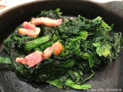 19:32 ほうれん草ベーコン 〜Spinach Bacon〜絶妙にマッチ!