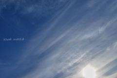 """8が3つの日◎真夏8月に秋風涼な空、かすかに虹彩雲〜skyキャンバスに描く""""秋"""""""