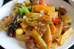豚角煮と野菜炒め