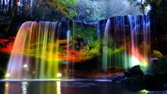 鍋が滝ライトアップ X100