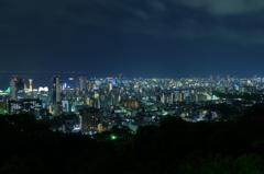 諏訪山展望台より須摩方向を望む