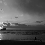 Monochrome sunset #1
